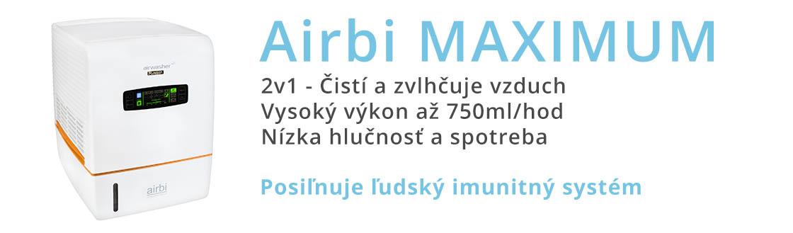 zvhlčovač a čistič vzduchu airbi maximum banner